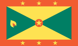 National flag of Grenada Stock Photo