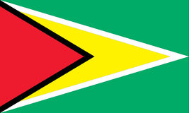 National flag of guyana Stock Image