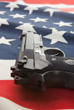 National flag with hand gun over it series - United States Stock Photography