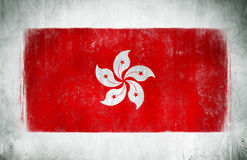 The National Flag Of Hong Kong Royalty Free Stock Photo
