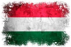 National flag of Hungary. On grunge concrete background Stock Image