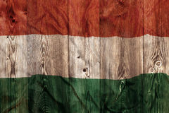 National flag of Hungary, wooden background Stock Photo