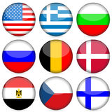 National flag icon set Royalty Free Stock Image
