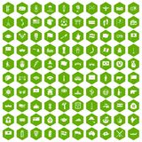 100 national flag icons hexagon green. 100 national flag icons set in green hexagon isolated vector illustration royalty free illustration