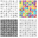 100 national flag icons set vector variant. 100 national flag icons set vector in 4 variant for any web design isolated on white Royalty Free Stock Photos