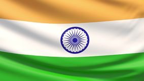 The national flag of India stock video