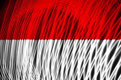 The national flag of Indonesia stock illustration