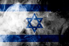 National flag of Israel stock photography