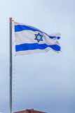 National Flag of Israel Stock Images
