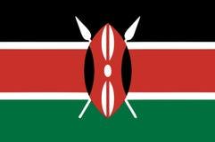 National flag of kenya Stock Image