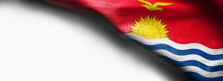 The national flag of Kiribati in the South Pacific on white background - right top corner royalty free stock photos