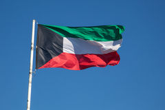 National Flag of Kuwait Royalty Free Stock Photography