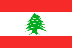 National flag of Lebanese Republic. Royalty Free Stock Image