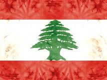 National flag - Lebanon Royalty Free Stock Photos