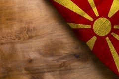 National flag of Macedonia Stock Image
