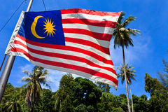 National flag of Malaysia Royalty Free Stock Photos