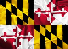 State Flag of Maryland Stock Photo
