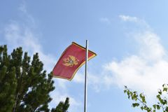 The national flag of Montenegro Royalty Free Stock Photography