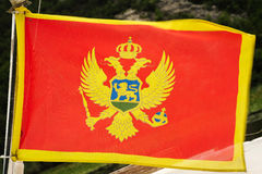 National flag of Montenegro Stock Photos