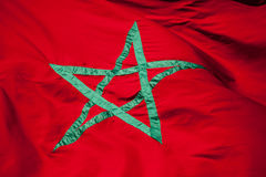 National flag of Morocco Royalty Free Stock Image