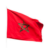 National flag of Morocco isolated on white Stock Images