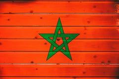 National flag of Morocco stock photography