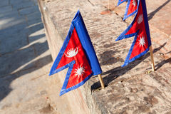 The national flag of Nepal Stock Image