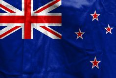 National flag of New Zealand Royalty Free Stock Photo