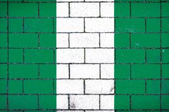 National flag of Nigeria Royalty Free Stock Photography