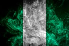 National flag of Nigeria Stock Photo