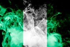 National flag of Nigeria Stock Images