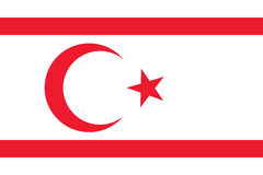 National flag of Northern Cyprus Stock Photos