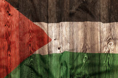 National flag of Palestine, wooden background Royalty Free Stock Images