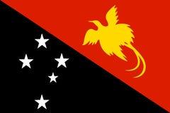 National flag-Papua New Guinea Stock Image