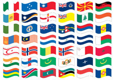 National flag part of a full set Royalty Free Stock Images