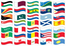 National flag part of a full set Stock Photography