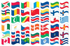 National flag part of a full set Royalty Free Stock Photography