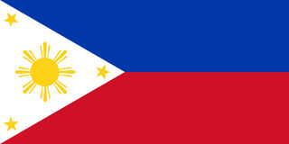 National flag of Philippines. Philipines flag official standard Stock Photos