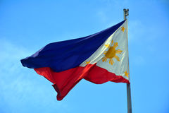 National Flag of the Philippines in Rizal Park, Manila. Manila, PH - JULY 6: National flag of the Philippines in Rizal Park on July 6, 2016. The Philippine flag royalty free stock images