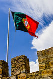 National Flag of portugal Stock Image