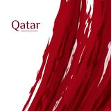 National flag of the Qatar Abstract grunge background of colors of the flag with the text of the Qatar National symbol flag royalty free illustration