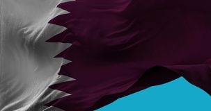 National Flag of Qatar waving in the wind slow motion royalty free illustration