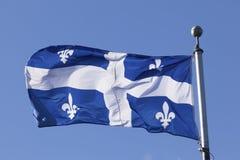 Flag of Quebec, Canada Stock Photos