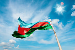 National flag of the Republic Azerbaijan Royalty Free Stock Images