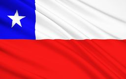 Flag of Republic of Chile, Santiago. The national flag of Republic of Chile, Santiago royalty free stock image