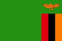 National flag Republic of Zambia. Royalty Free Stock Photo