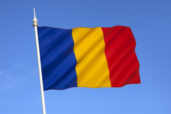 National flag of Romania - Eastern Europe Royalty Free Stock Image
