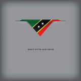 National flag Saint Kitts and Nevis Royalty Free Stock Photos