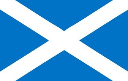 National flag - Scotland Royalty Free Stock Photography