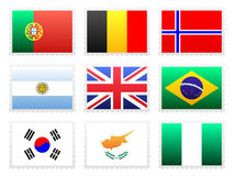 National flag set Stock Photography